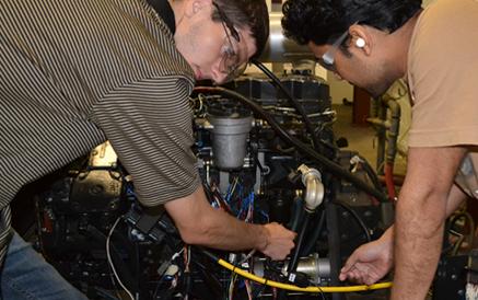 LHPU Students test controls engine