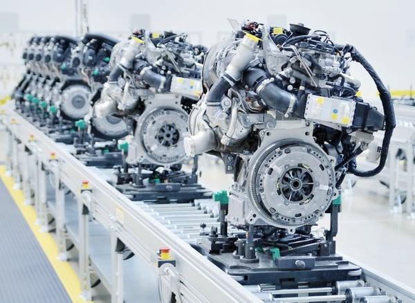 engine on production line